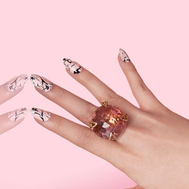 ROSE ROCK  At @palettenails we love our NCLA wraps! We have over 30+ looks for either full sets, or as feature nails. How amazing is this shot from @shopncla of their pink marble! Also available in white, black and mint  PS. We have a special giveaway to announce tomorrow, you won't want to miss out!